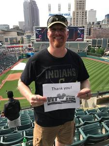 Jasper attended Cleveland Indians vs. Kansas City Royals - MLB on May 28th 2017 via VetTix