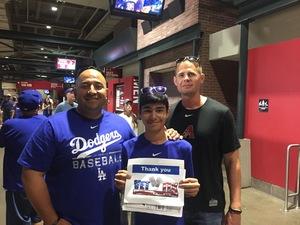 Hector G attended Arizona Diamondbacks vs. Los Angeles Dodgers - MLB on Apr 22nd 2017 via VetTix