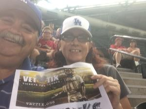 Conrad attended Arizona Diamondbacks vs. Los Angeles Dodgers - MLB on Apr 22nd 2017 via VetTix