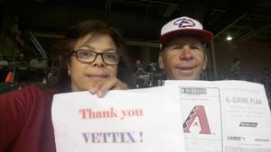 Paul attended Arizona Diamondbacks vs. Los Angeles Dodgers - MLB on Apr 22nd 2017 via VetTix