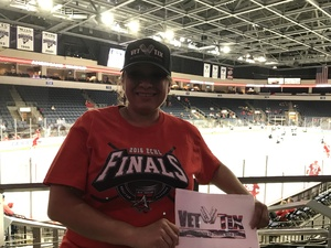 Leticia attended Kelly Cup Champions Allen Americans vs. Utah Grizzlies - ECHL Playoff Hockey - Round One - ECHL on Apr 14th 2017 via VetTix