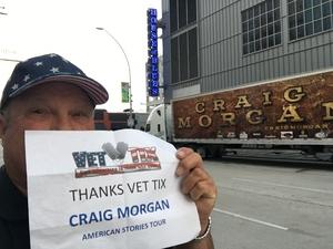 Larry attended Craig Morgan - Live in Concert on Apr 19th 2017 via VetTix