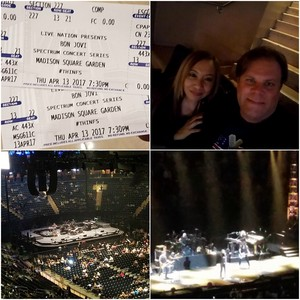 KEN F attended Bon Jovi - This House Is Not for Sale Tour on Apr 13th 2017 via VetTix