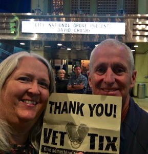 William attended An Evening With David Crosby and Friends on Apr 18th 2017 via VetTix