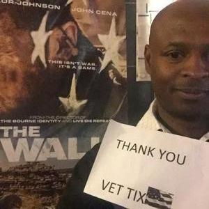 Leon attended The Wall - World Premier With John Cena and Aaron Taylor - Johnson on Apr 27th 2017 via VetTix