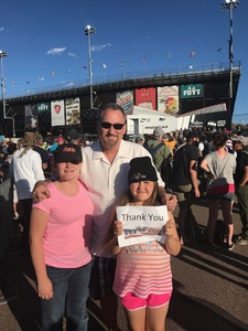 Roy attended Desert Diamond West Valley Phoenix Grand Prix - Indycar Series on Apr 29th 2017 via VetTix