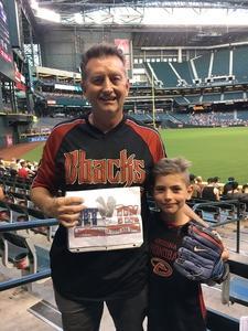 Robert attended Arizona Diamondbacks vs. San Diego Padres - MLB on Apr 24th 2017 via VetTix