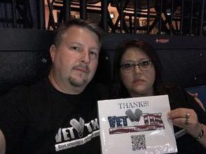Tom attended Daryl Hall and John Oates With Tears for Fears on May 4th 2017 via VetTix