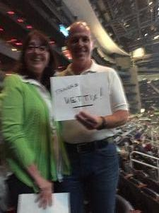 Garland attended Neil Diamond - the 50 Year Anniversary World Tour on Apr 30th 2017 via VetTix