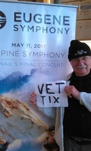 Arthur attended Alpine Symphony - Presented by the Eugene Symphony on May 11th 2017 via VetTix