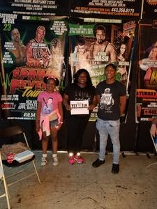 Rae attended Second Annual Slamboree - Presented by Maryland Championship Wrestling on Jun 9th 2017 via VetTix