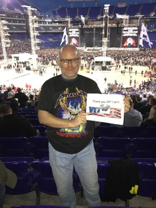 Mark attended Metallica Worldwired Tour With Special Guest Avenged Sevenfold With Volbeat on May 10th 2017 via VetTix