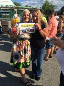 Johni attended Brad Paisley With Special Guest Dustin Lynch, Chase Bryant, and Lindsay Ell on May 20th 2017 via VetTix