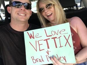 blake attended Brad Paisley With Special Guest Dustin Lynch, Chase Bryant, and Lindsay Ell on May 20th 2017 via VetTix