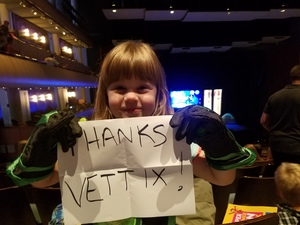 Garrett attended The Wild Kratts Live on May 21st 2017 via VetTix