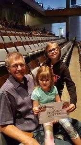 Bob attended The Wild Kratts Live on May 21st 2017 via VetTix