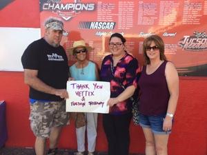 Gerald attended Tucson Speedway - Chain N Go Enduro on Jun 17th 2017 via VetTix