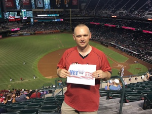 Steven attended Arizona Diamondbacks vs. Cincinnati Reds - MLB on Jul 8th 2017 via VetTix