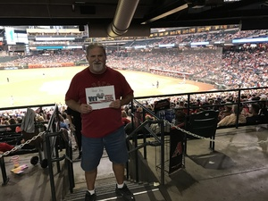 James attended Arizona Diamondbacks vs. Cincinnati Reds - MLB on Jul 8th 2017 via VetTix