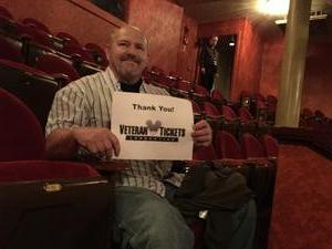 LEE attended George Thorogood and the Destroyers on May 30th 2017 via VetTix