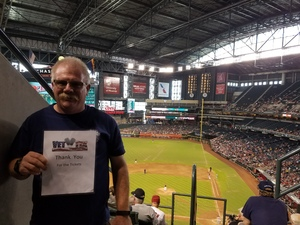 Michael attended Arizona Diamondbacks vs. Cincinnati Reds - MLB on Jul 9th 2017 via VetTix