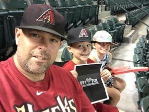 Bryant attended Arizona Diamondbacks vs. Cincinnati Reds - MLB on Jul 9th 2017 via VetTix