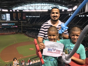 Tahir attended Arizona Diamondbacks vs. Cincinnati Reds - MLB on Jul 9th 2017 via VetTix
