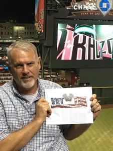Dennis attended Arizona Diamondbacks vs. Washington Nationals - MLB on Jul 21st 2017 via VetTix