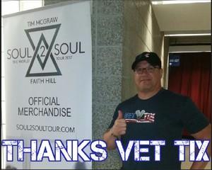 Leonard D attended Tim McGraw and Faith Hill: Soul2Soul the World Tour 2017 on Jun 16th 2017 via VetTix