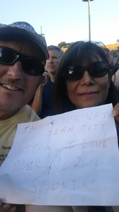 DEAN attended Boston With Joan Jett and the Black Hearts - Hyper Space Tour - Reserved Seats on Jun 18th 2017 via VetTix