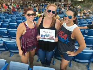 Nicole attended Brad Paisley With Special Guest Dustin Lynch, Chase Bryant, and Lindsay Ell on Jun 25th 2017 via VetTix