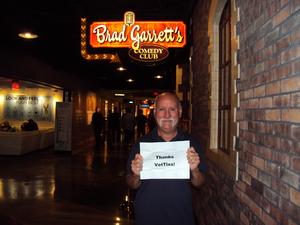 Rick attended Brad Garrett's Comedy Club - Hosted by Brad Garrett - Saturday on Jun 24th 2017 via VetTix
