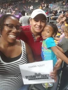 Camelia attended Los Angeles Sparks vs. Phoenix Mercury - WNBA - Armed Services Day! on Jun 18th 2017 via VetTix