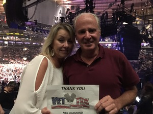 Brendan attended Neil Diamond - the 50 Year Anniversary World Tour on Jun 15th 2017 via VetTix