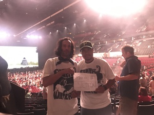 Derek attended Roger Waters US + Them Featuring Songs From Pink Floyd on Jun 25th 2017 via VetTix