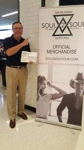 Harold attended Tim McGraw & Faith Hill: Soul2Soul the World Tour 2017 on Jul 7th 2017 via VetTix