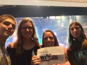 Kathy attended Soul2Soul With Tim McGraw and Faith Hill on Jul 31st 2017 via VetTix