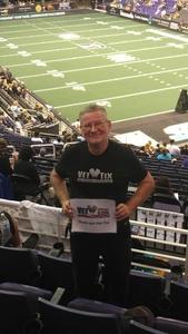 LaVern attended Arizona Rattlers vs. Nebraska Danger - IFL Playoffs on Jun 24th 2017 via VetTix