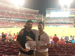Joe attended Cincinnati Reds vs. Milwaukee Brewers - MLB on Jun 29th 2017 via VetTix