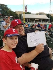 Corey attended Frisco Rough Riders Texas League All Star Game on Jun 27th 2017 via VetTix