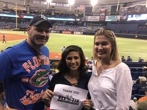 Chris W. attended Tampa Bay Rays vs. Baltimore Orioles - MLB - Lower Level Seating on Jul 25th 2017 via VetTix