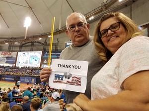 Gary attended Tampa Bay Rays vs. Baltimore Orioles - MLB - Lower Level Seating on Jul 25th 2017 via VetTix