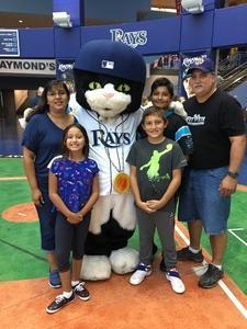 The Monkman's attended Tampa Bay Rays vs. Baltimore Orioles - MLB - Lower Level Seating on Jul 25th 2017 via VetTix