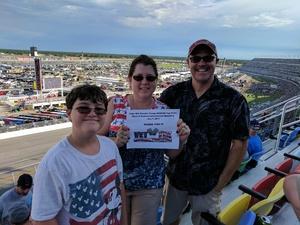 Lara attended Coke Zero 400 Powered by Coca Cola - Monster Energy NASCAR Cup Series on Jul 1st 2017 via VetTix