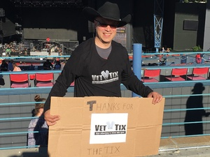 Paul attended Brad Paisley With Special Guest Dustin Lynch, Chase Bryant, and Lindsay Ell - Lawn Seats on Jun 17th 2017 via VetTix