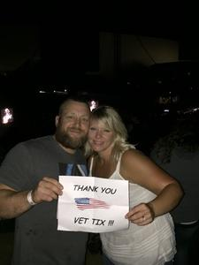 Bradley attended Brad Paisley With Special Guest Dustin Lynch, Chase Bryant, and Lindsay Ell - Lawn Seats on Jun 17th 2017 via VetTix