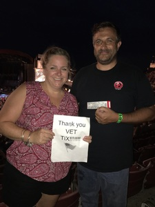 Thomas attended The Moody Blues: Days of Future Passed - 50th Anniversary Tour on Jul 12th 2017 via VetTix