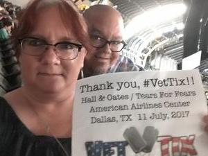 Starr attended Daryl Hall, John Oates and Tears for Fears With a Special Acoustic Performance by Allen Stone on Jul 11th 2017 via VetTix