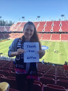 thomas attended San Jose Earthquakes vs. LA Galaxy - MLS - Salute to the Military - Giveaways & Fireworks! on Jul 1st 2017 via VetTix