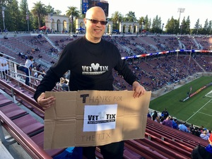 Paul attended San Jose Earthquakes vs. LA Galaxy - MLS - Salute to the Military - Giveaways & Fireworks! on Jul 1st 2017 via VetTix